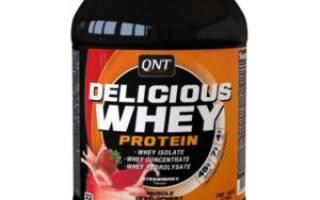 Протеин QNT Delicious Whey Protein Strawberry Flavour — «Клубничная вкуснятина (такой вкусный, что можно увлечься и превысить дневную норму белка)
