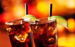 Ром с колой: пропорции коктейля, рецепт