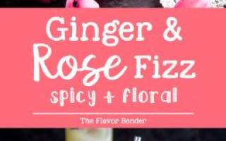 Blushing Ginger Rose Fizz (A Rose Mocktail Cocktail) — The Flavor Bender