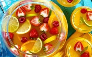 Пунши безалкогольные: рецепты приготовления
