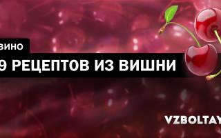 Вино из вишни: 9 рецептов в домашних условиях