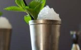 Коктейль «Мятный Джулеп»: состав, пропорции, рецепт, история