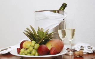Закуски к шампанскому, чем лучше закусывать шампанское