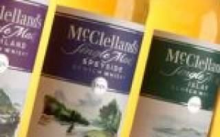 Виски Макклелланд (McClelland — s): описание и виды марки