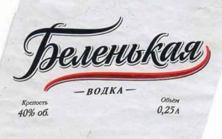 Обзор водки Беленькая