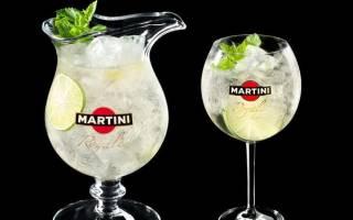 Как сделать коктейль Мартини Рояль в домашних условиях