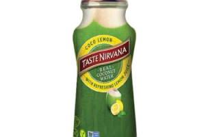 Натуральная кокосовая вода с лимоном Real Coconut Water Lemon от Nirvana Foods 280 мл (Таиланд)