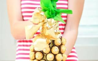 Как сделать из шампанского и конфет ананас: простой мастер класс