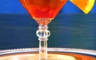 Ингредиенты, фото и описание процесса приготовления коктейля Красный лев